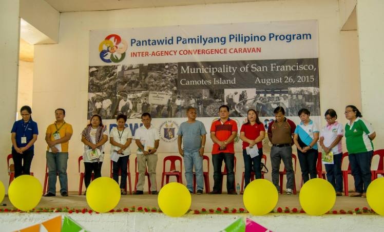 Representatives of the participating agencies of the 4Ps Caravan in San Fernando, Camotes.